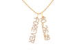 Diamond Forever Wedding Date Charm Necklace