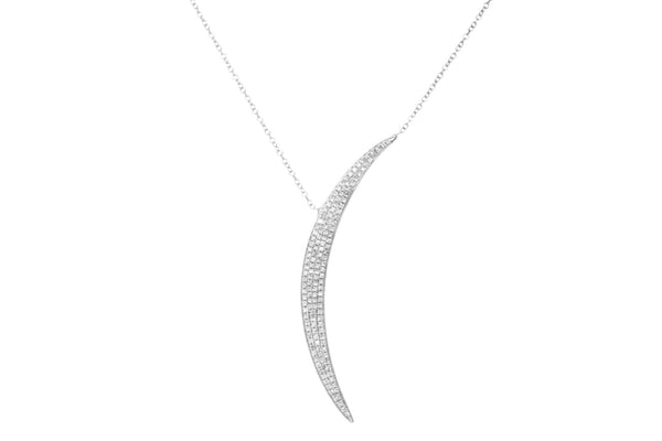 EF Collection Diamond Jumbo Crescent Moon Necklace - 1