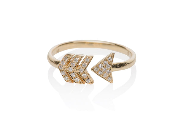 EF Collection Diamond Midi Arrow Ring - 1
