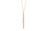 EF Collection Multi Bezel Diamond Vertical Bar Necklace - 1
