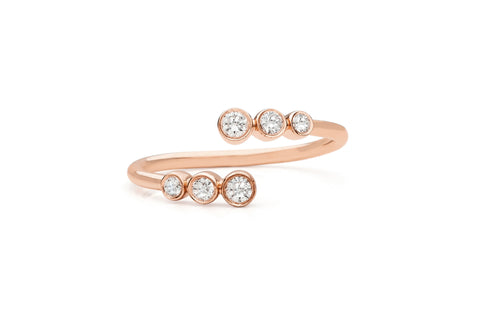 EF Collection Multi Bezel Diamond Twist Ring - 1