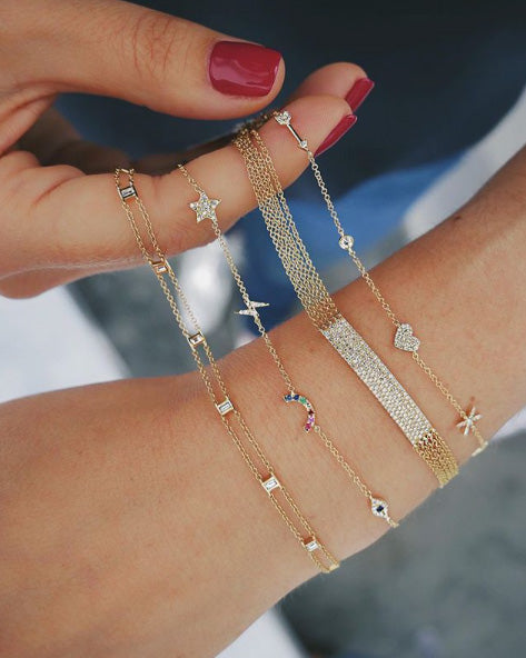 Diamond Cosmic Charm Bracelet
