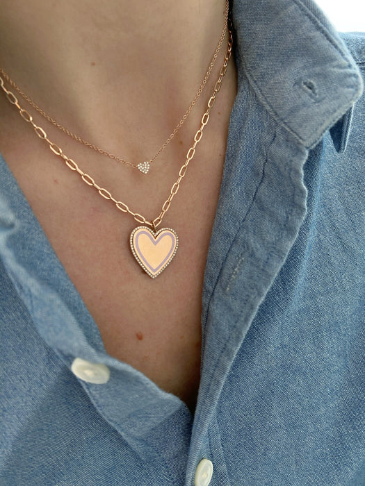 Diamond Single Mini Heart Necklace