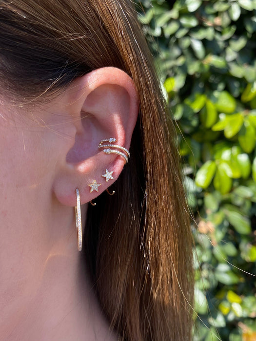 Diamond Teardrop Twist Ear Cuff (No Piercing)