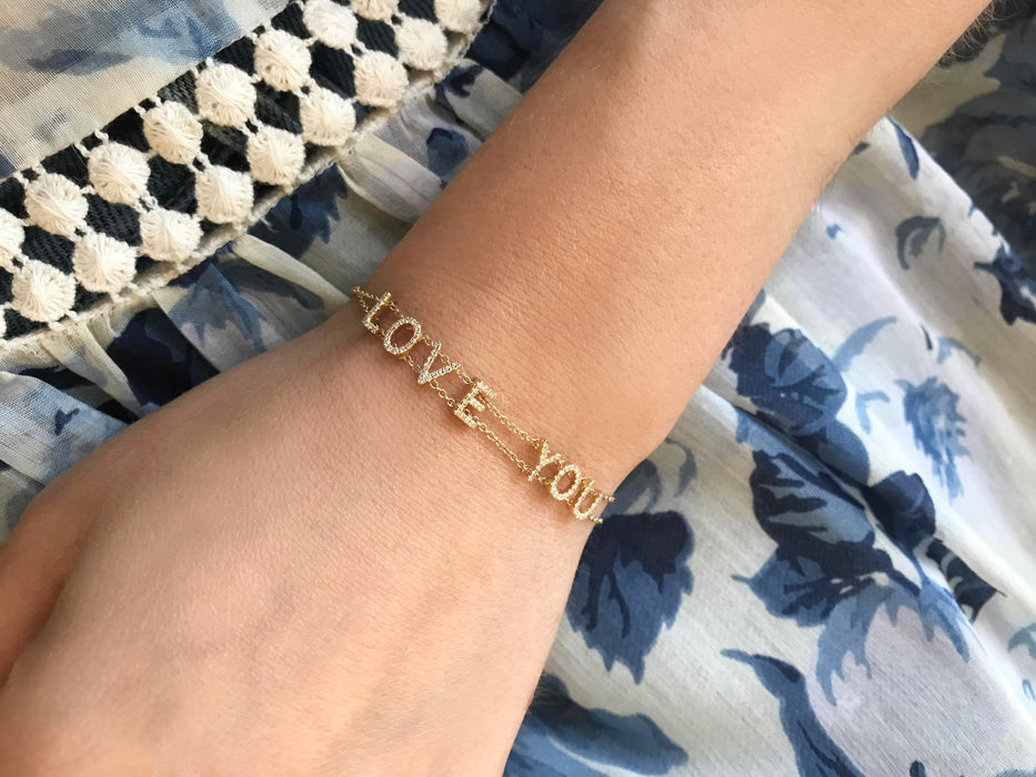 Diamond Love You Bracelet