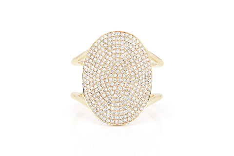 EF Collection Diamond Jumbo Oval Ring - 1