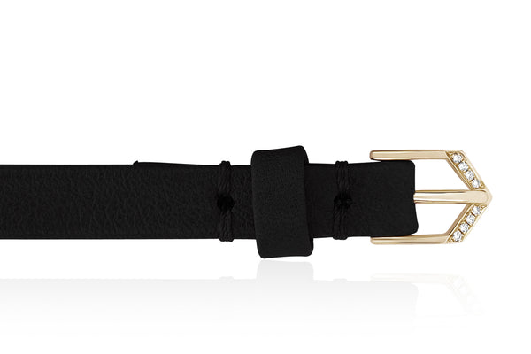 EF Collection Diamond Ultra X Leather Bracelet - 3