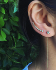 Mini Diamond Bezel Ear Cuff