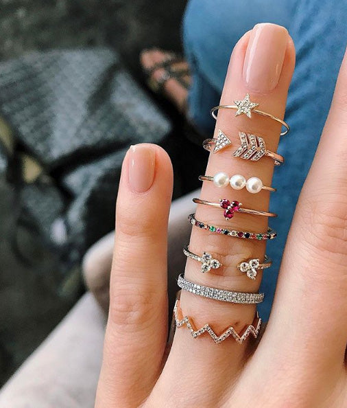 Ruby Trio Stack Ring