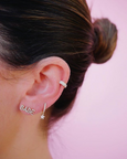 Triple Diamond Single Cartilage Ear Cuff (No Piercing)
