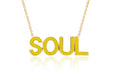 SoulCycle X EF Collection Yellow Enamel Soul Necklace