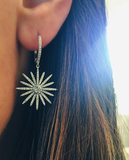 Diamond Starburst Drop Earring