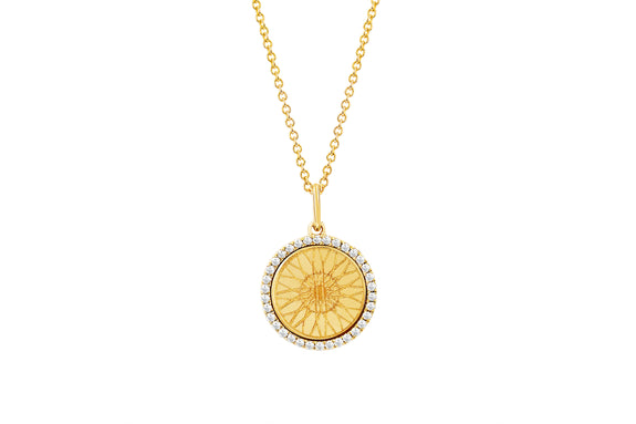 SoulCycle X EF Collection Diamond Wheel Necklace