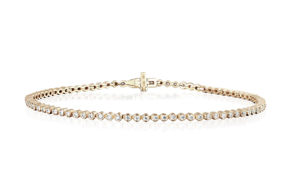 EF Collection Diamond Bezel Eternity Bracelet - 1