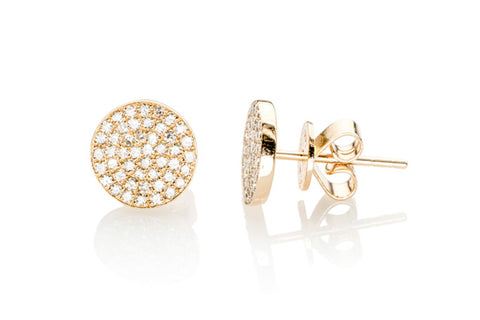 EF Collection Diamond Disc Studs - 1