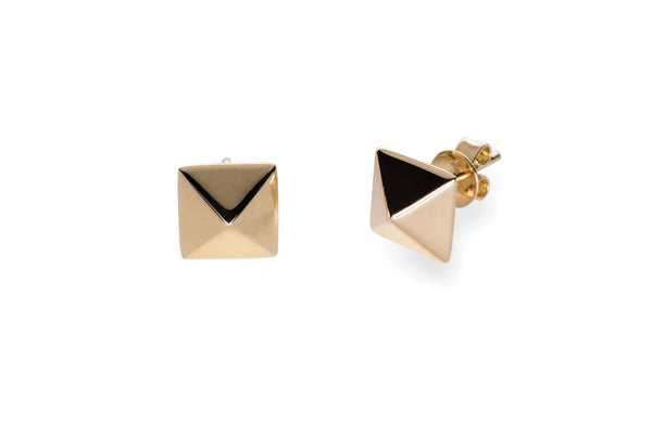 EF Collection Pyramid Stud Earrings - 1