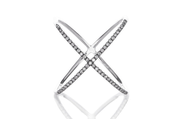 EF Collection Diamond X Ring - 1