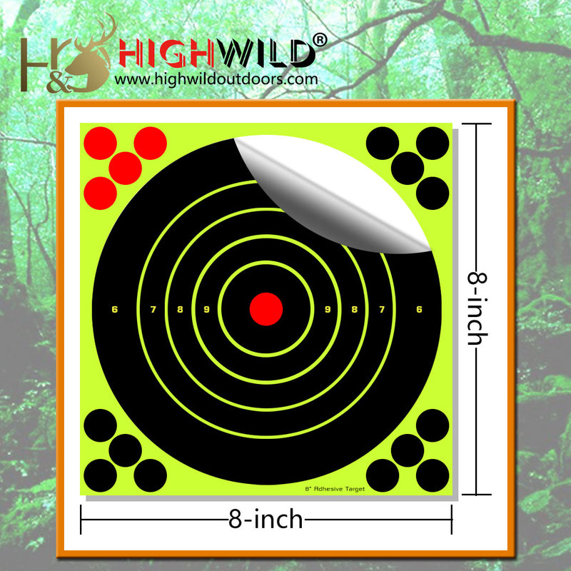 "8"" X 8"" Splatter Target Sticker - Pack of 25"