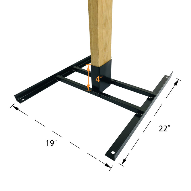 Double T-Shaped 2X4 Target Stand Base