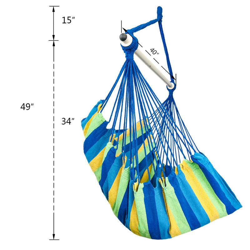 Hanging Hammock Chair - Blue & Green