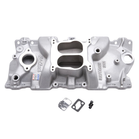 Edelbrock 2101 - Performer Intake Manifolds - Small Block Chevy