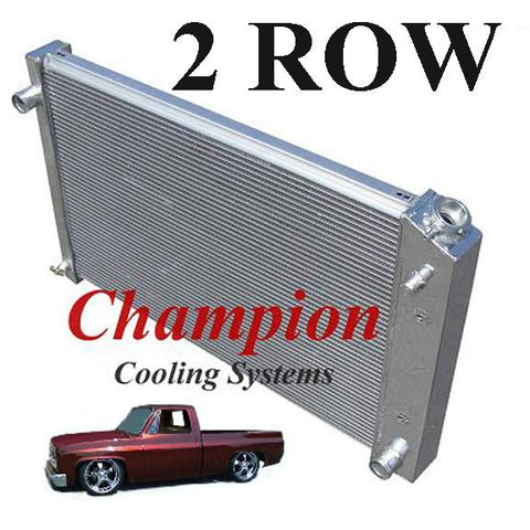 "Champion Radiators - Chevrolet C/K(73-87)/Blazer/Jimmy(73-91) - 2 Row - 19"" Tall"