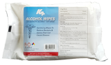 Label of 25 Count: 75% Isopropyl Alcohol Wipes In Travel Pack - RBL Products