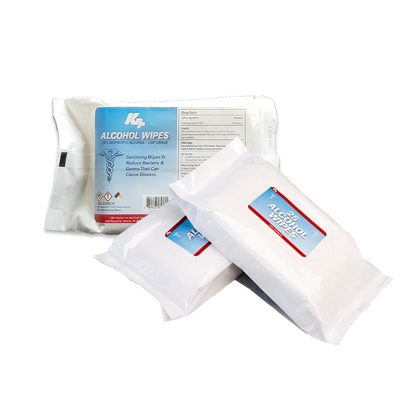 75% Isopropyl Alcohol Wipes Travel Packs. 25 Wipes/Pack. Multiple Case Quantities Available.
