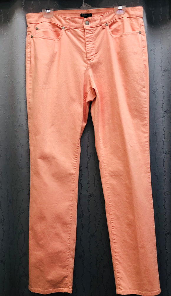 Eileen Fisher salmon pants in cotton size 14