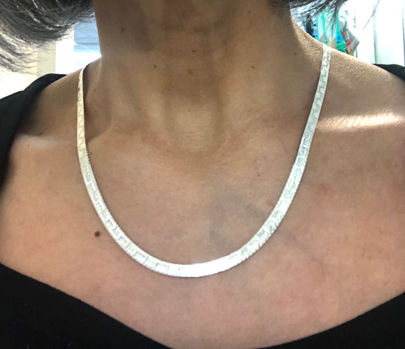 Sterling Silver MJI Italy chain necklace
