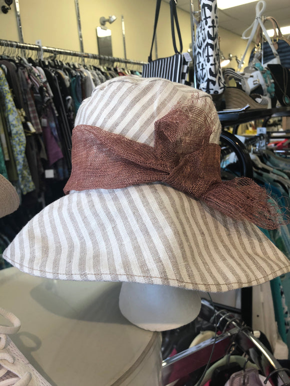 Denise and Madeline linen hat