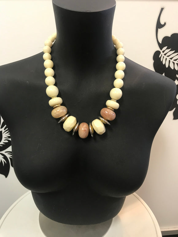 Cream bead necklace