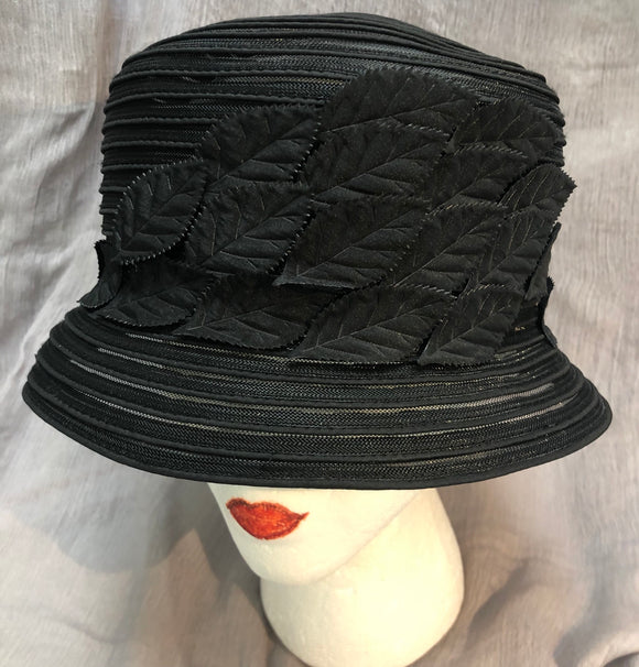 Black stylish hat