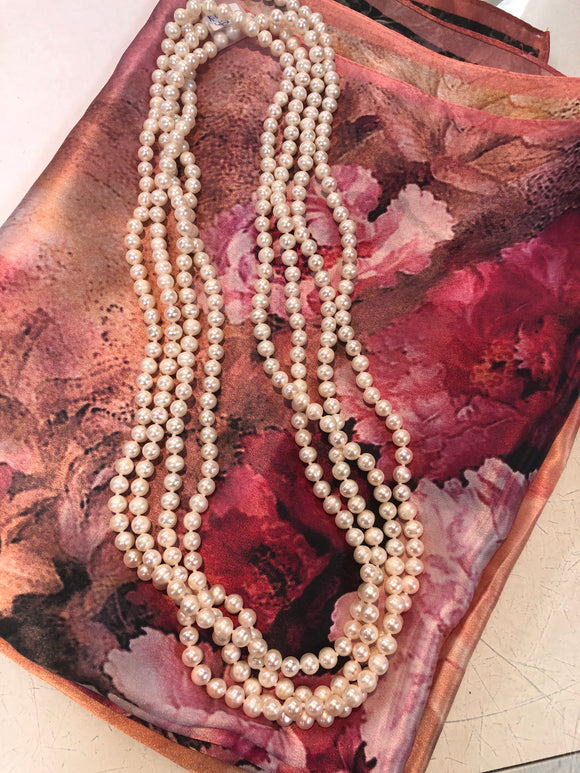 Fresh water pearls one long strand necklace