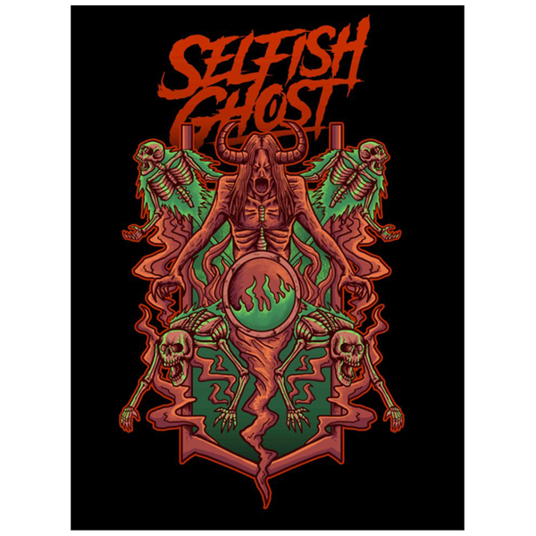 Selfish Ghost Graphic Poster