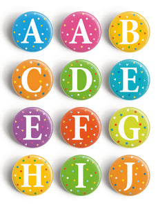 Buttons, Buchstaben A-Z - Tante Trudel