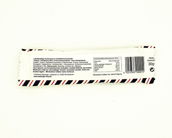 Salzinger Schoko-Salmiak Lolly, 30g