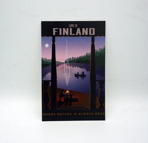 Come to finland, where nature is always near - große Postkarte