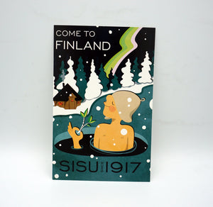 SISU since 1917, come to finland - große Postkarte