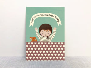"Baby ""Welcome little one!"" - Postkarte"
