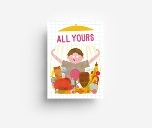 All yours! Postkarte
