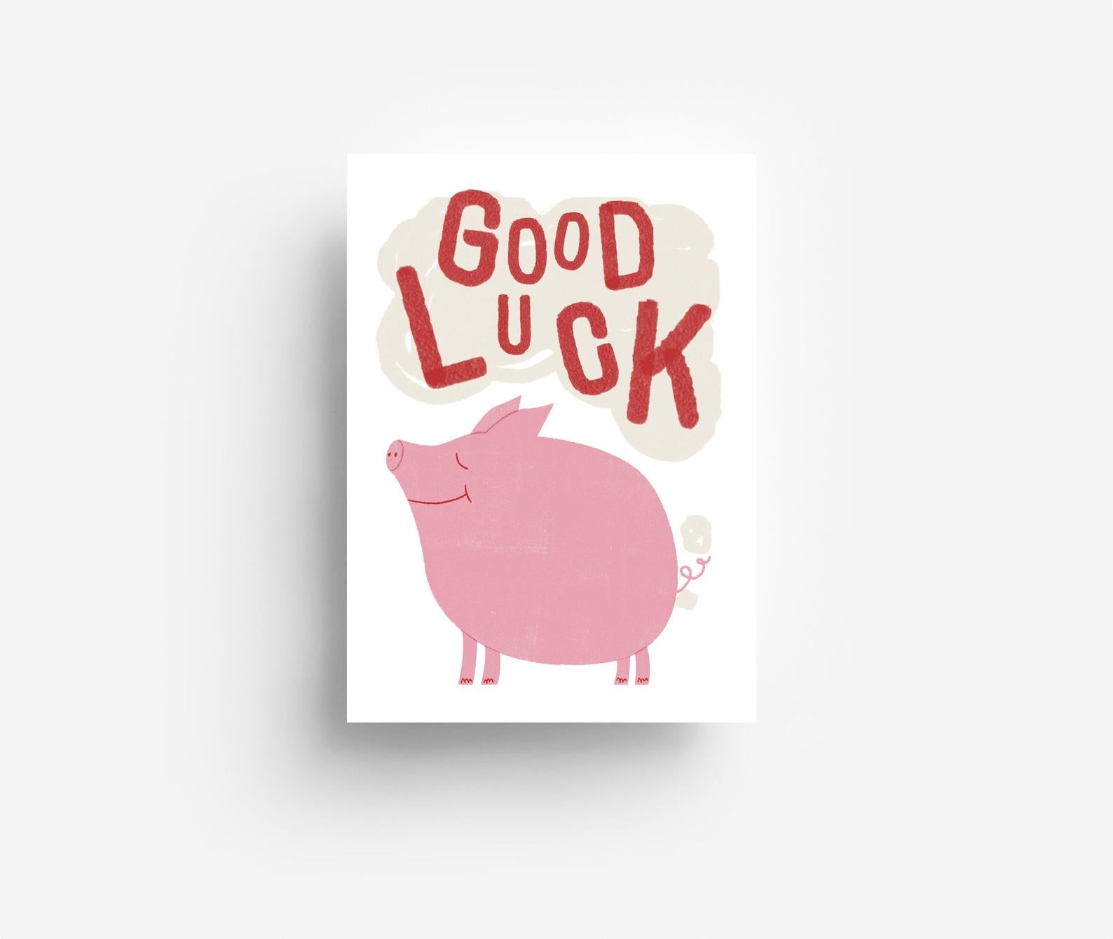Good Luck Postkarte
