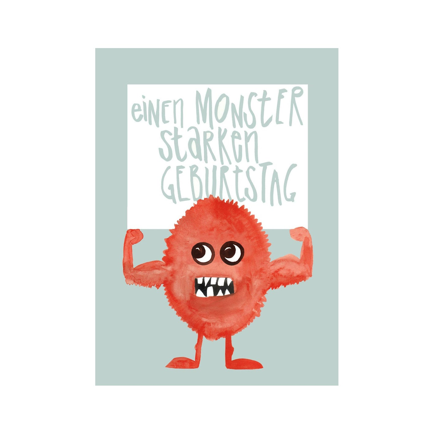 Monsterstark Postkarte