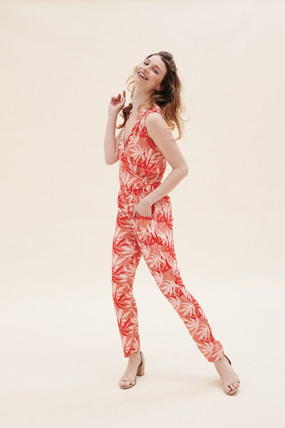 Antonella Jumpsuit, palm leaves - LilyBalou