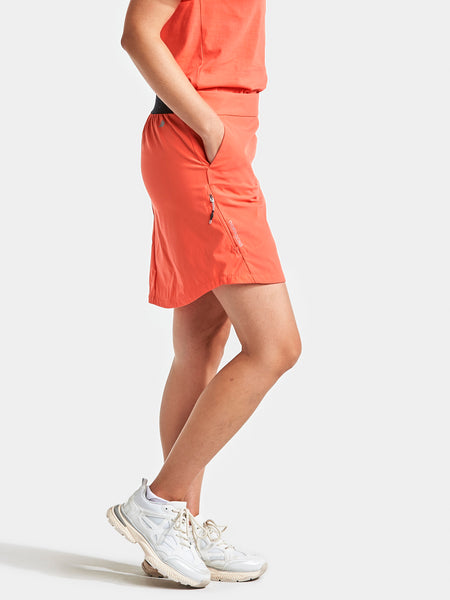 Liv Womens Outdoor Skirt, coral - Didriksons