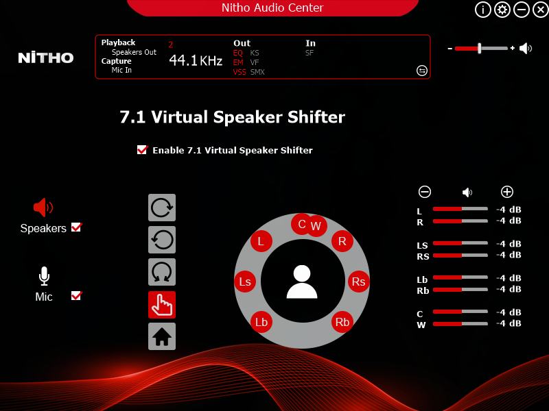 Driver 7.1 Surround sound - NiTHO