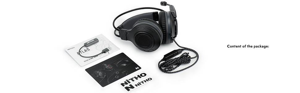 ATLAS 7.1 Surround Sound Gaming Headset (with Windows® 10 driver) - NiTHO