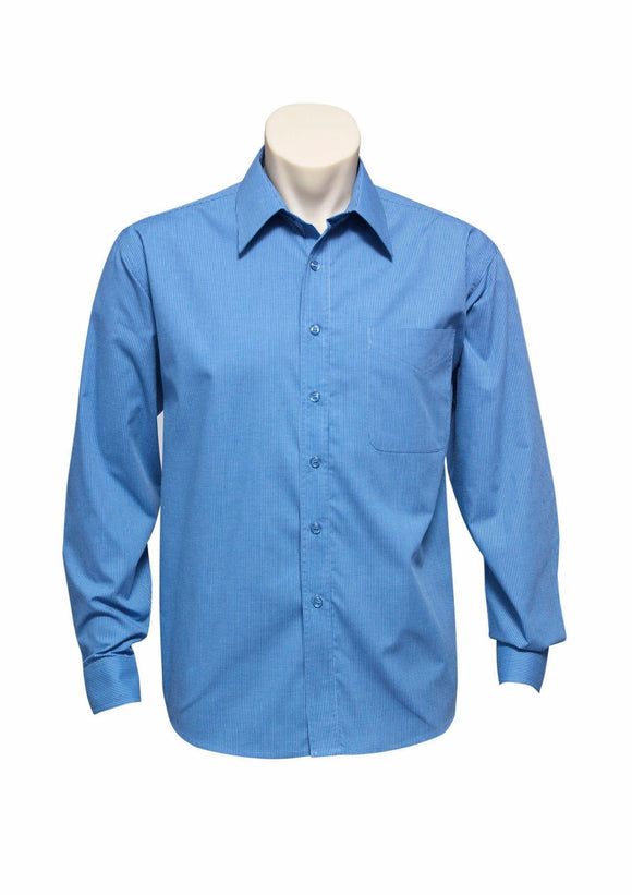 Micro Check Long Sleeve Shirt | Mens