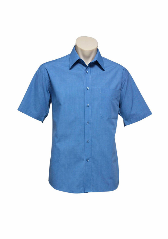 Micro Check Short Sleeve Shirt | Mens