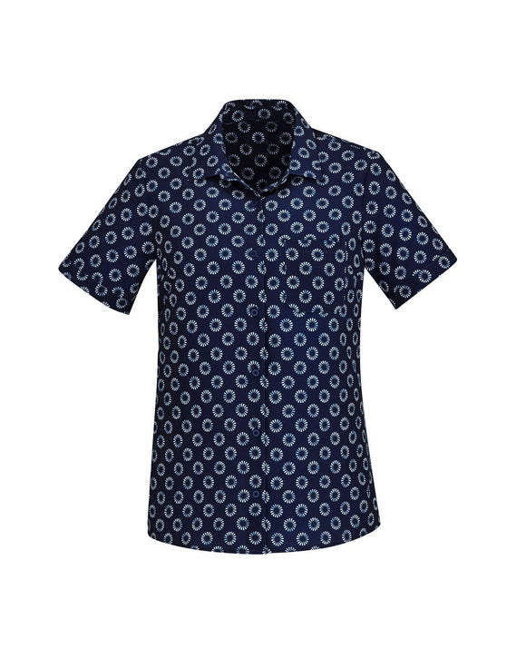 Daisy Print Short Sleeve Shirt | Womens